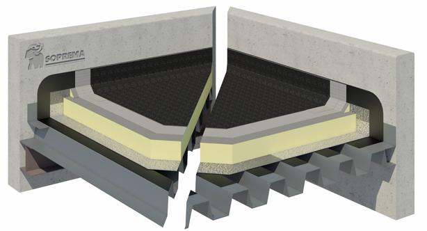 Bitumen warm roof system