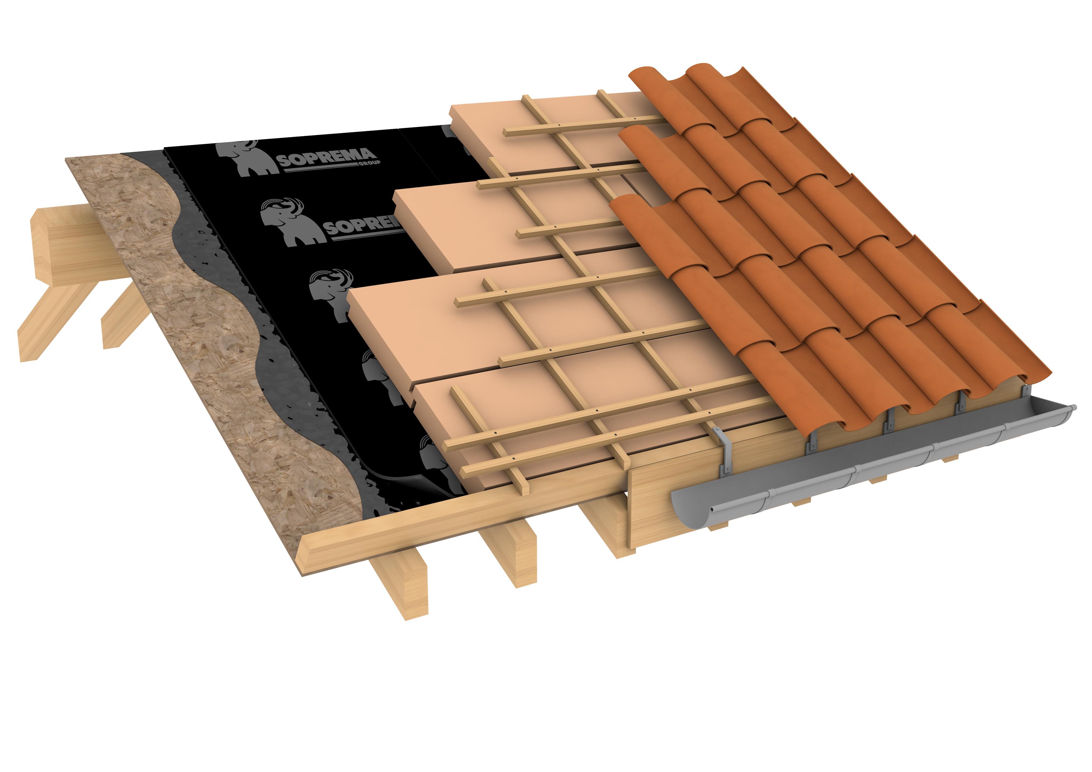 Cubierta inclinada de teja te 01 22a soprema - Tipos de cubiertas inclinadas ...
