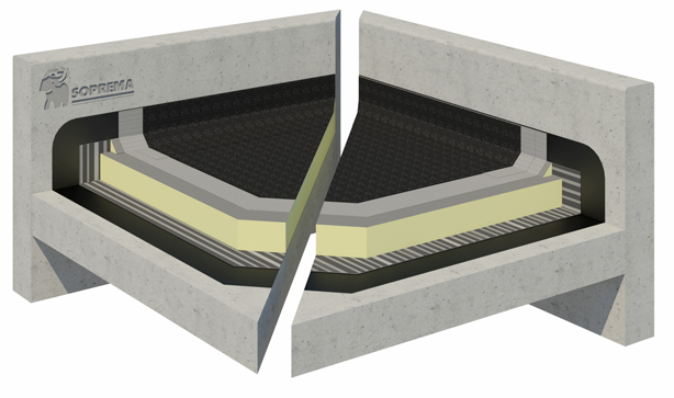 Bitumen warm roof system