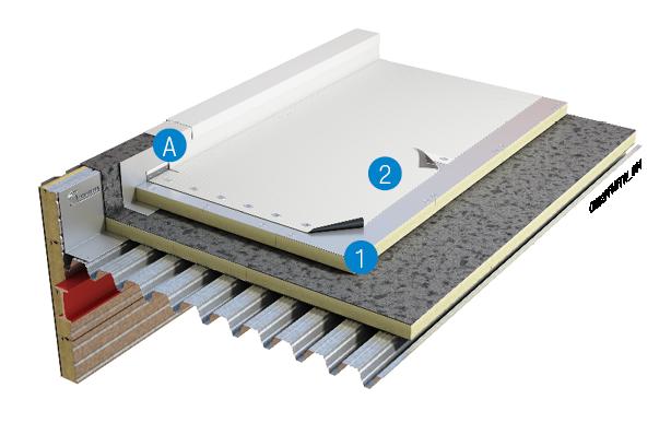 Mechanisch bevestigd kunststof systeem op bestaande dakbedekking