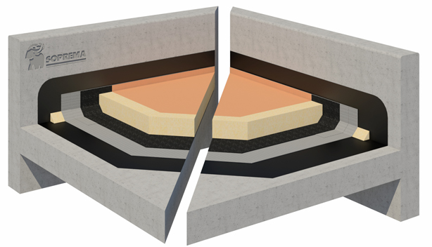 Bitumen inverted warm roof system
