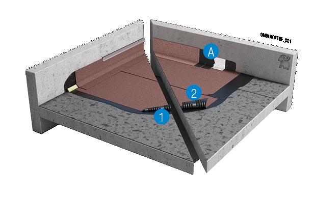 Gevlamlast bitumineus systeem op bestaande dakbedekking